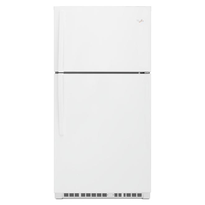"""Réfrigérateur à congélateur supérieur, 33"""", 21,3 pi³, blanc"""