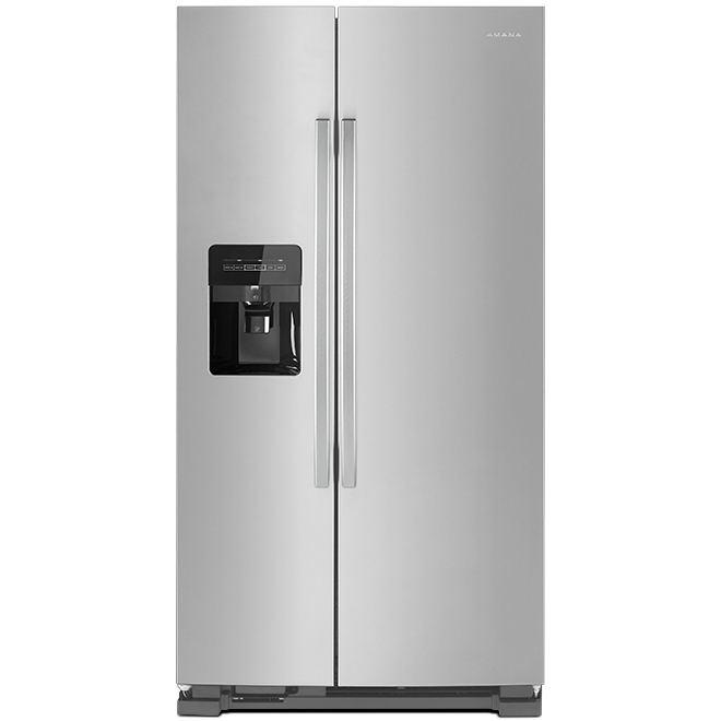 """Réfrigérateur côte-à-côte, 33"""", 21,4 pi³, acier inoxydable"""