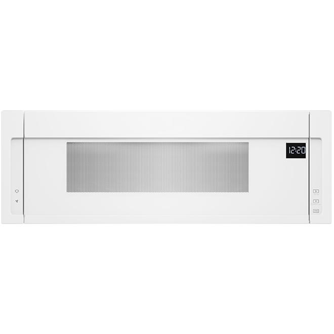 Four micro-ondes avec hotte intégrée, 1,1 pi³, 900 W, blanc