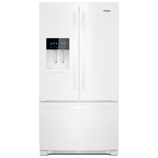 """Réfrigérateur à portes françaises, 36"""", 24,7 pi³, blanc"""