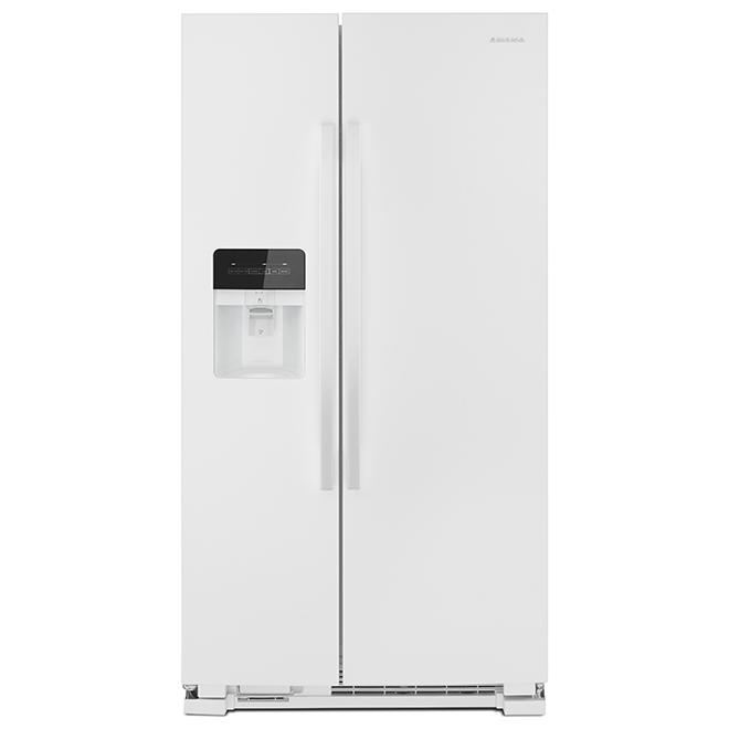 """Réfrigérateur côte-à-côte Amana, 33"""", 21,4 pi³, blanc"""