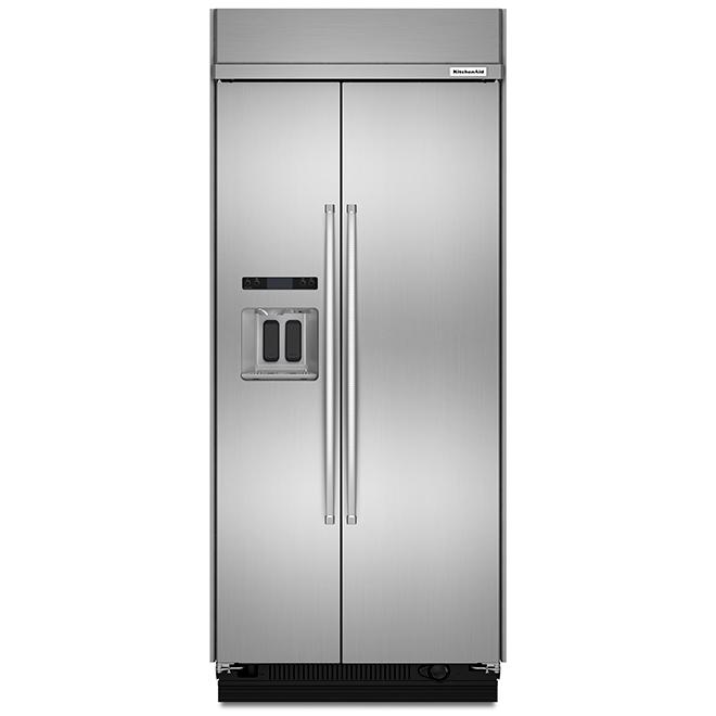 """Réfrigérateur avec portes côte-à-côte, 36"""", 20,8 pi³, inox"""