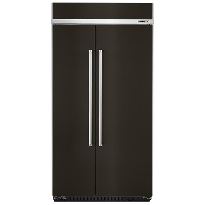 """Réfrigérateur côte-à-côte, 42"""", 25,0 pi³, inox noir"""