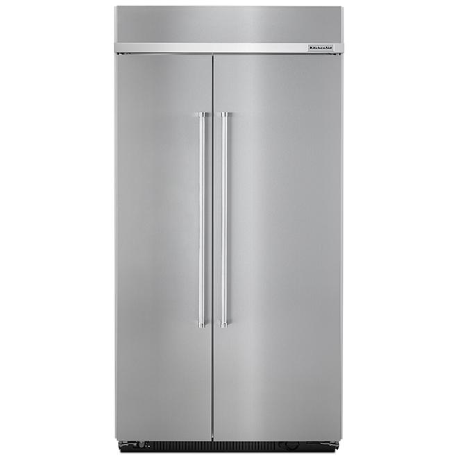 """Réfrigérateur côte-à-côte, 42"""", 25,5 pi³, acier inoxydable"""