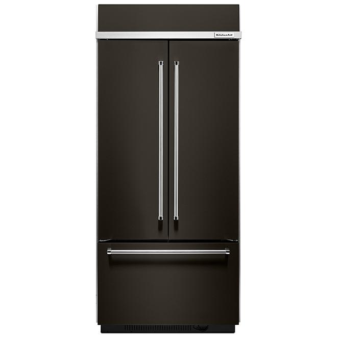"""Réfrigérateur à portes françaises, 36"""", 20,8 pi³, inox noir"""