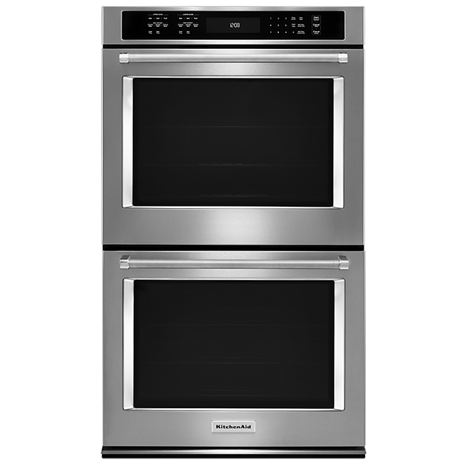 """KitchenAid(R) Double Wall Oven - 30"""" - 10 cu. ft. - SS"""