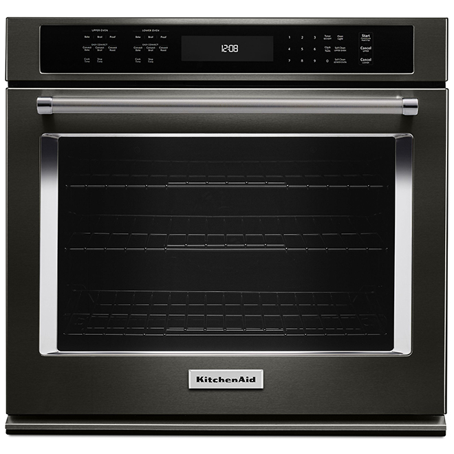 """KitchenAid(R) Simple Electric Wall Oven - 27"""" - Black SS"""