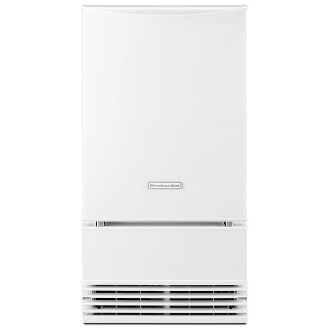"Ice Maker with Automatic Defrost Unit - 18"" - White"