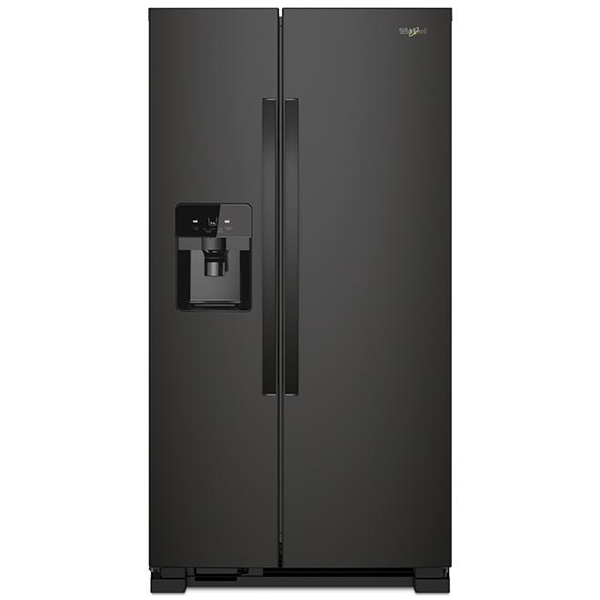 """Réfrigérateur côte-à-côte Whirlpool(MC), 25 pi³, 36"""", noir"""