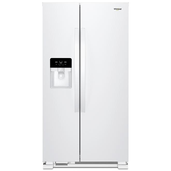"Réfrigérateur côte-à-côte Whirlpool(MC), 25 pi³, 36"", blanc"