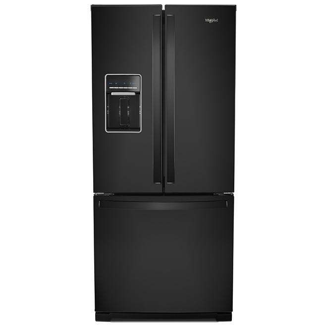 "Whirlpool French-Door Refrigerator - 30"" - 19.7 cu. ft. - Black"