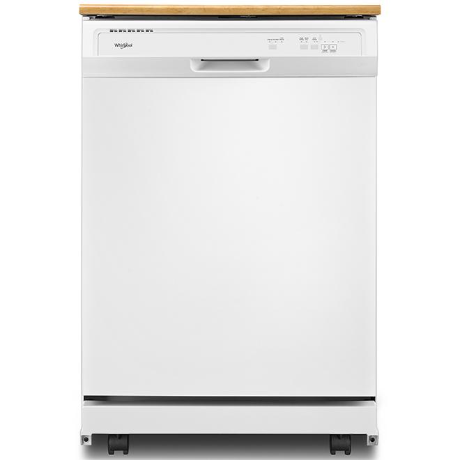 "Lave-vaisselle portatif robuste Whirlpool(MC), 24"", blanc"
