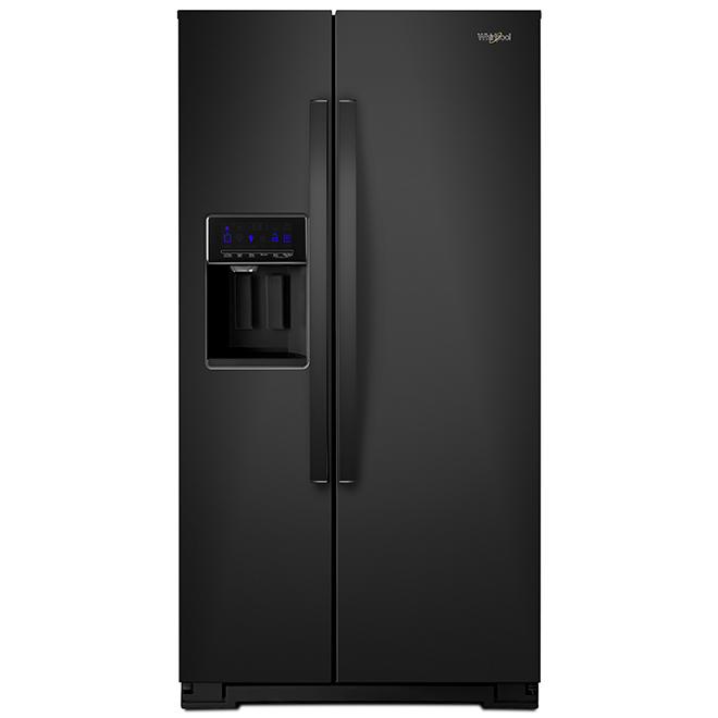"Whirlpool Side-by-Side Refrigerator - 21 cu. ft. - 36"" - Black"