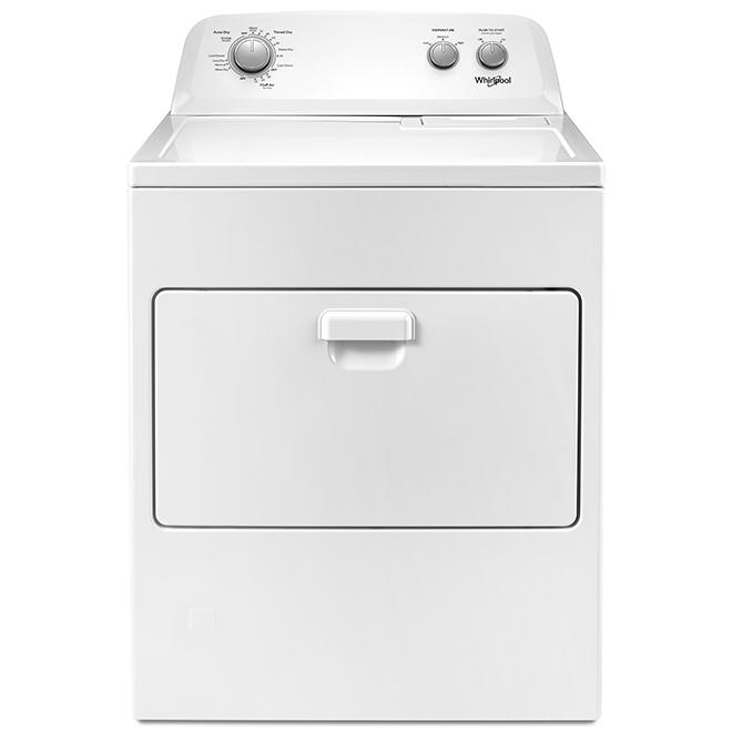Sécheuse au gaz Whirlpool(MC) avec AutoDry(MC), 7,0 pi³, blanc