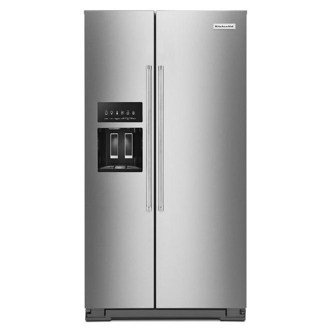 Réfrigérateur côte-à-côte KitchenAid, 19,8 pi³, inox