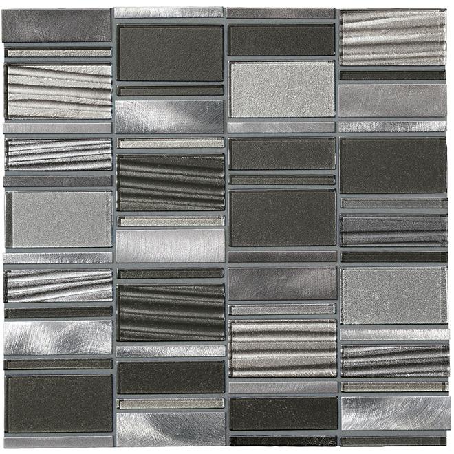 Loren Place Mosaic Gl Metal Tile