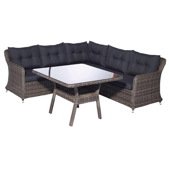 Ensemble de mobilier modulaire pour patio Kingsmill, gris