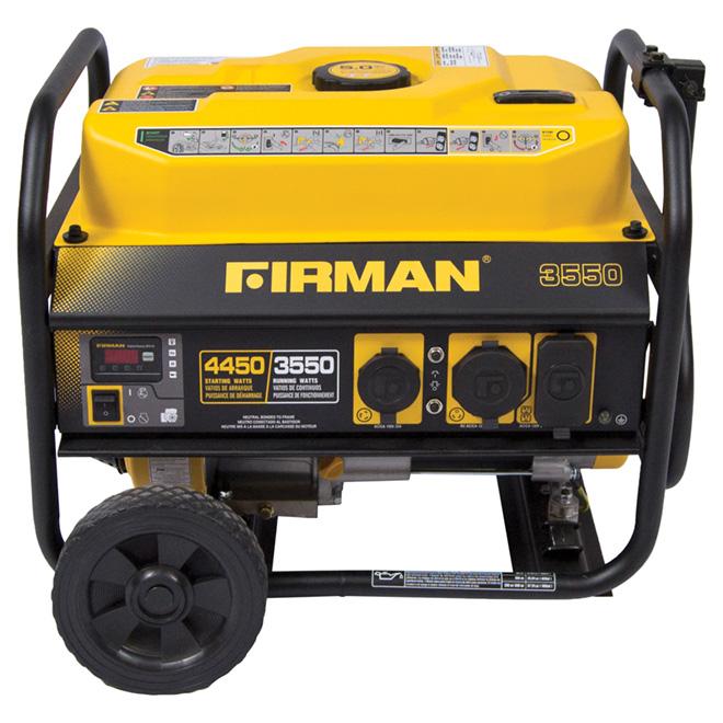 Génératrice portative à gaz, 3550W, jaune