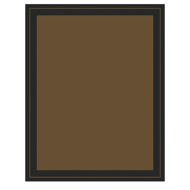 Outdoor/Indoor Area Rug New Haven - 8 x 10-ft - Brown/Black