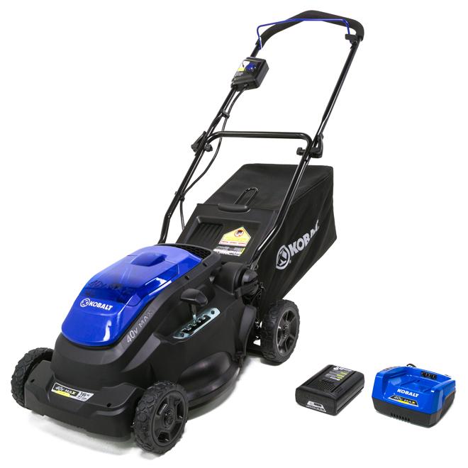 2-in-1 Cordless Push Lawn Mower - 40 V - 16