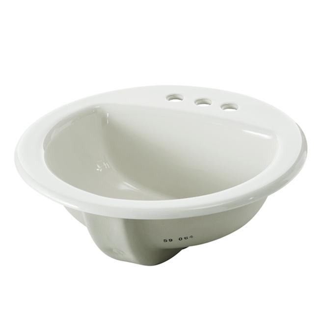 Drop-in-Lavatory - Round - 19'' x 19'' x 8.3'' - White