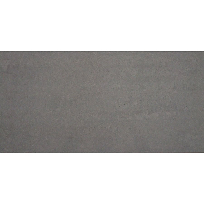 "Porcelain Tiles - 12"" x 24"" - 6/Box - Polished Grey"