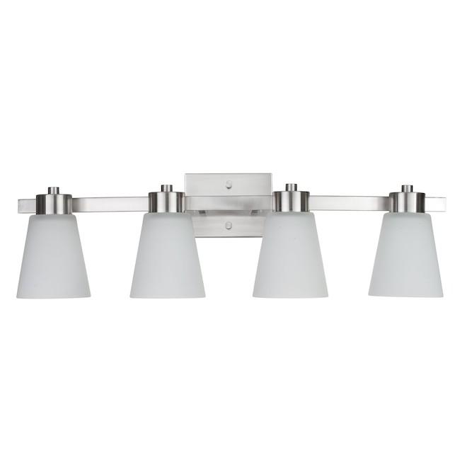 Project Source Vanity Light - 4 Lights - 60 W - Brushed Nickel