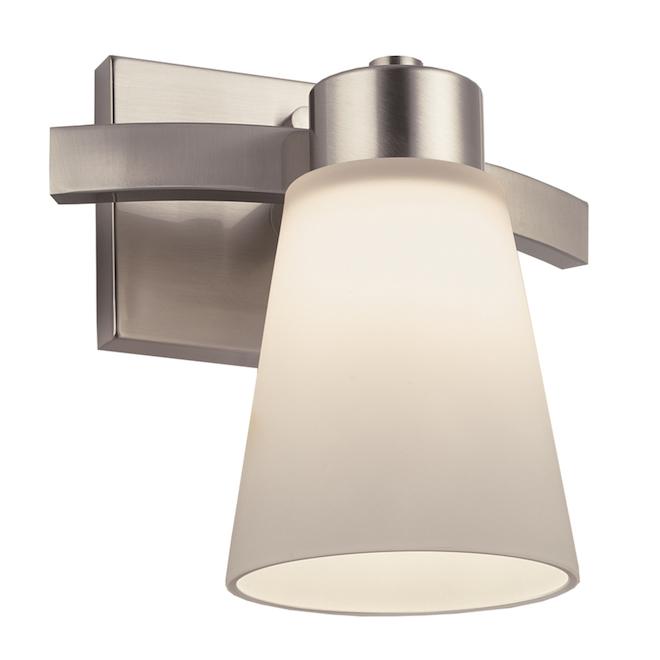 Project Source Vanity Light - 1 Light - 60 W - Brushed Nickel