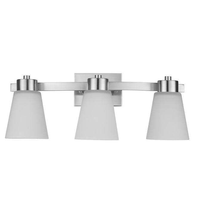 Project Source Vanity Light - 3 Lights - 60 W - Brushed Nickel
