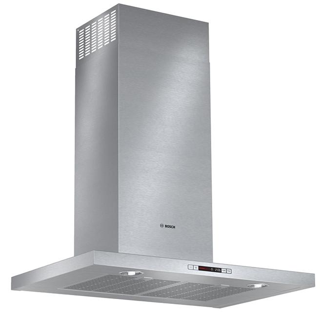 """Hotte de cuisine cheminée, 600 PCM, 30"""", acier inoxydable"""