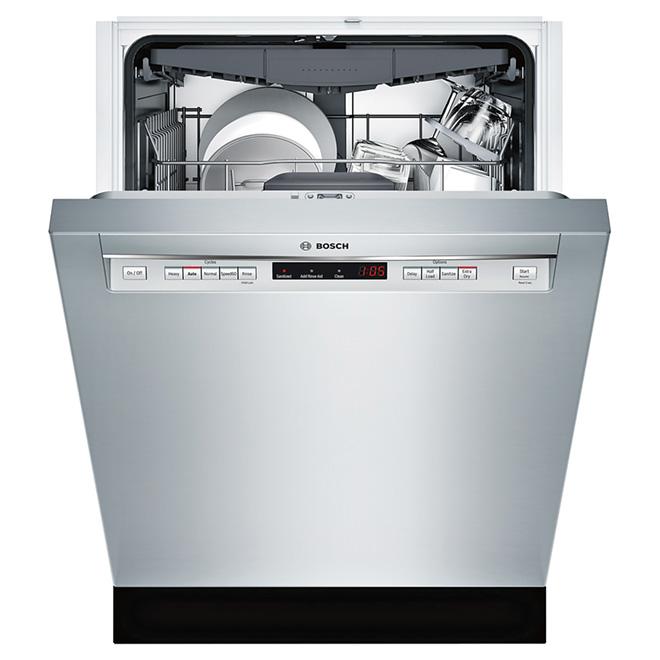 bosch lave vaisselle avec poign e en retrait 24 inox. Black Bedroom Furniture Sets. Home Design Ideas