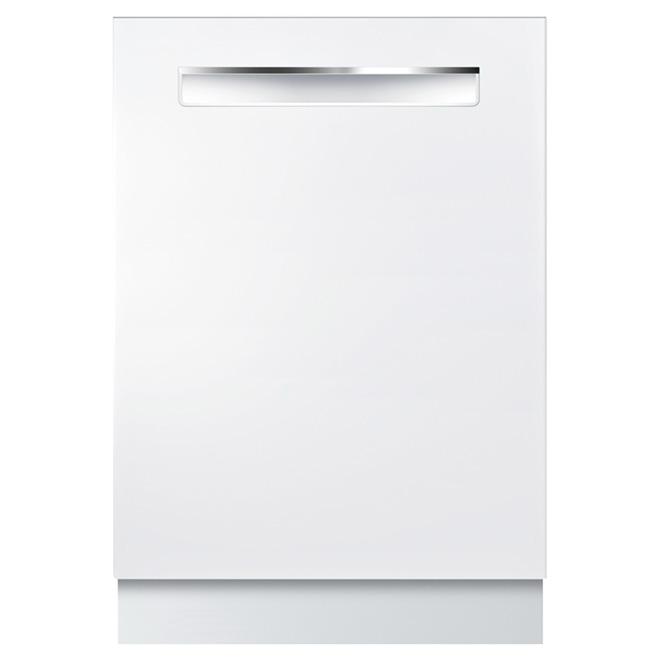 """Lave-vaisselle silencieux avec option demi-charge, 24"""", blanc"""