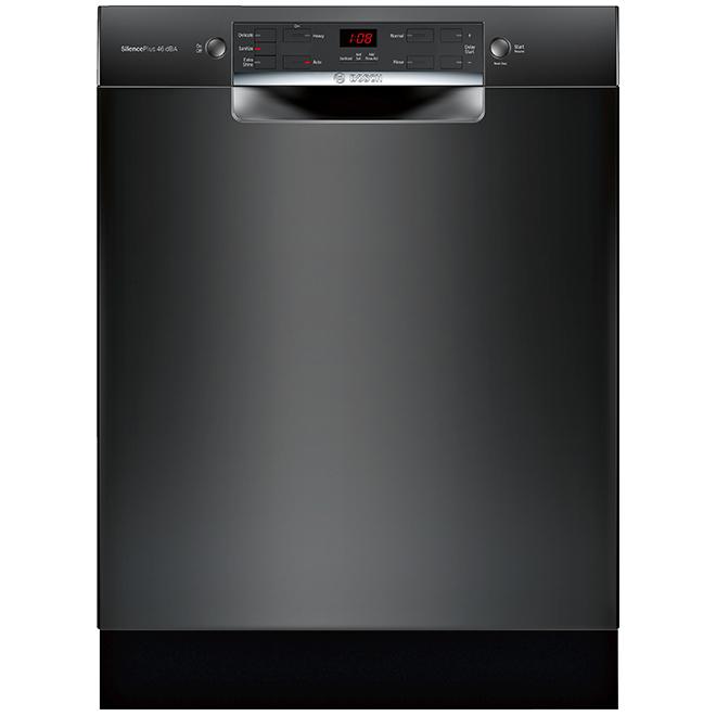 """Lave-vaisselle encastré Bosch Série 300, AquaStop, 24"""", noir"""