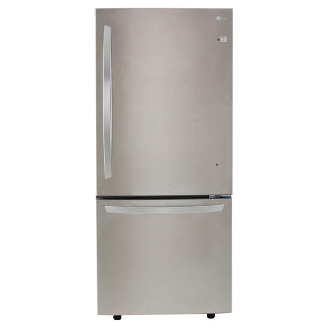 "Bottom-Freezer Refrigerator 30"" - 22 cu.ft. -Stainless Steel"