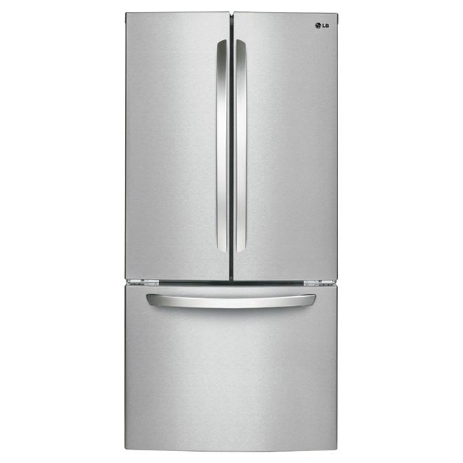 Réfrigérateur à portes françaises 23,9 pi³, inox