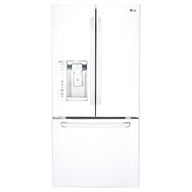 Réfrigérateur à portes françaises 24,2 pi³, blanc
