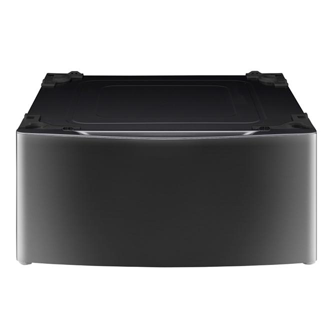 Socle de rangement LG pour laveuse/sécheuse, 27 po, acier noir