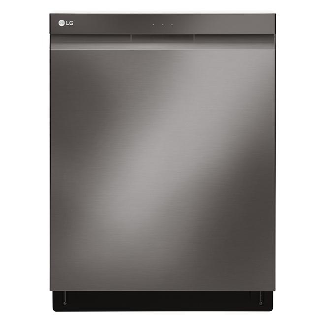 "Built-In Dishwasher - QuadWash - 24"" - Black Stainless Steel"