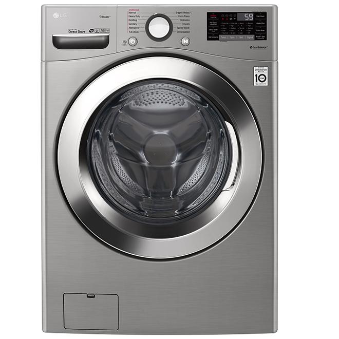 Laveuse à chargement frontal avec 6Motion(MC), 5,2 pi³, inox