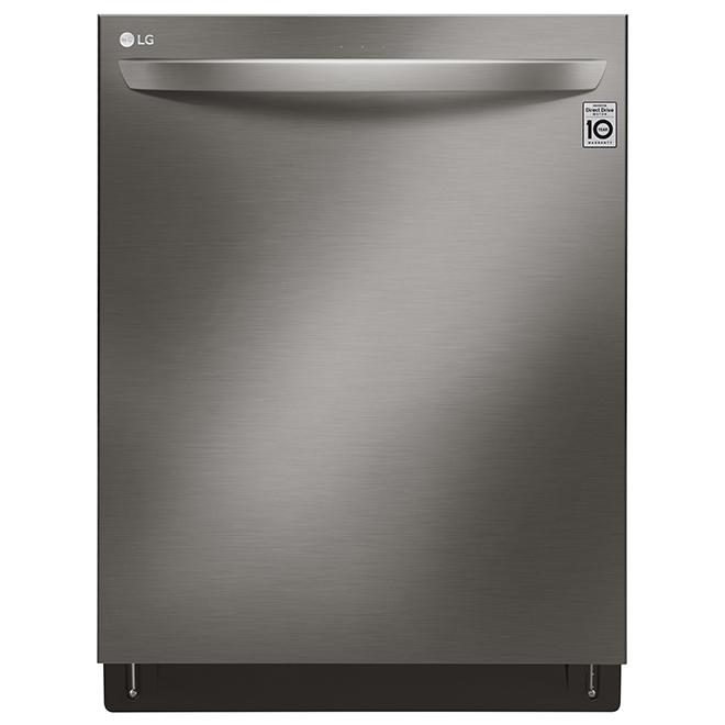 "LG QuadWash(TM) Smart Built-In Dishwasher - 24"" - Black SS"