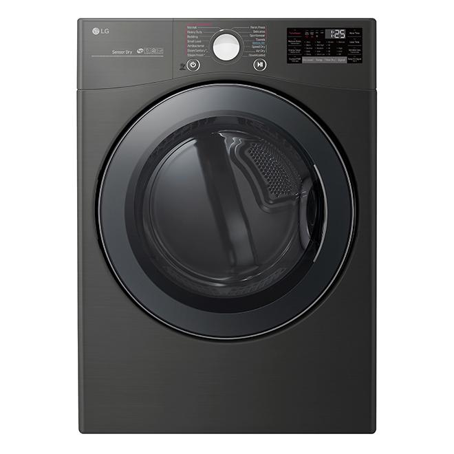 "LG Smart Electric Dryer - 26"" - 7.4 cu. ft. - Black Steel"