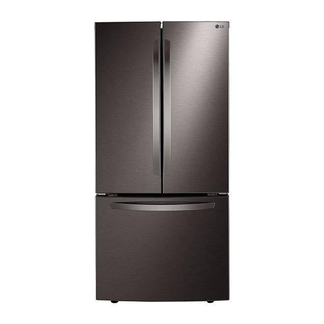 "LG French-Door Refrigerator - 33"" - 23.9 cu. ft. - Black SS"