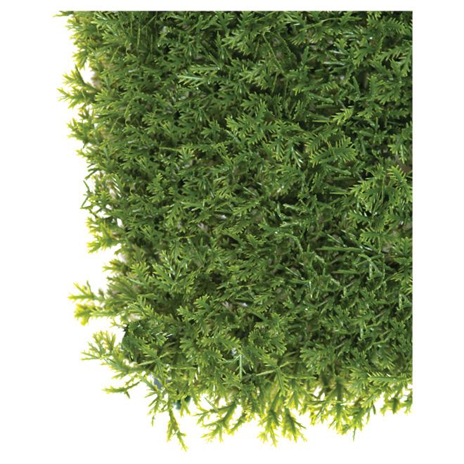 Artificial Cedar Panel - 40 in x 40 in - 11 sq.ft. - Green