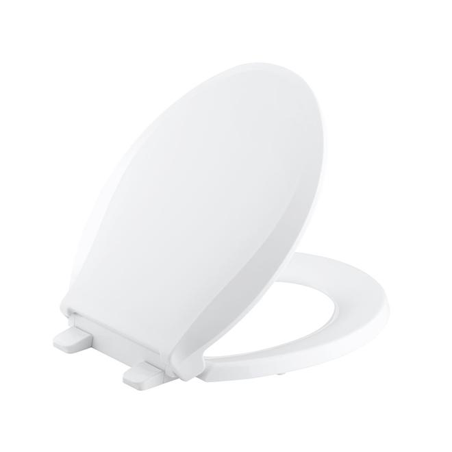 Round Detachable Toilet Seat 'Cachet' - Plastic - White