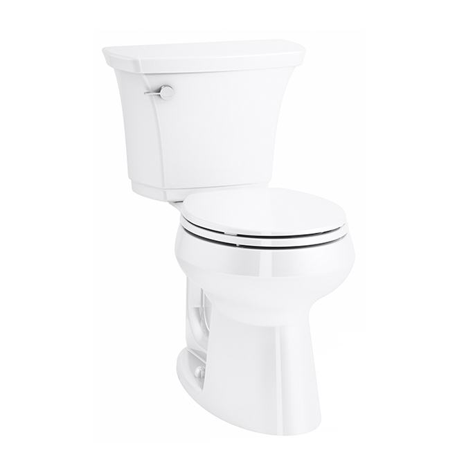 "Toilette 2-pièce arrondie Kohler, Highline, 4,8 l - 12"", blanc"
