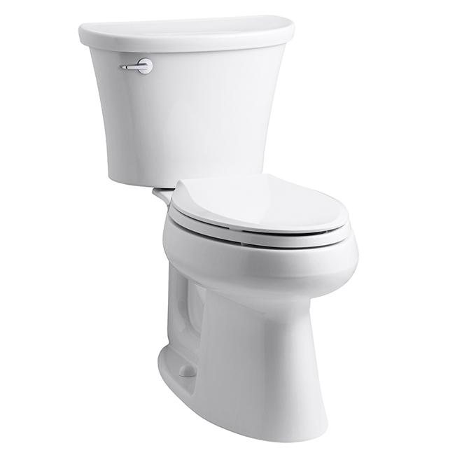 Cavata Elongated-Front 2-Piece Toilet - White