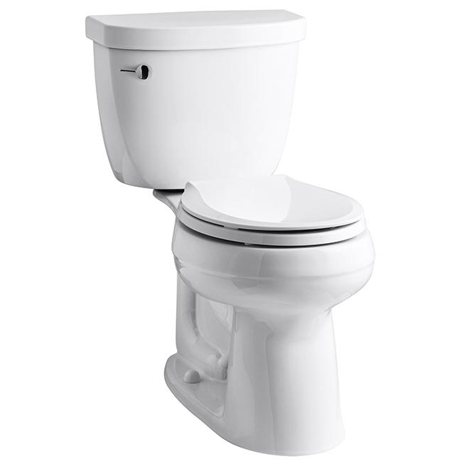 Cimarron Comfort Height 2-Piece Round Toilet - White