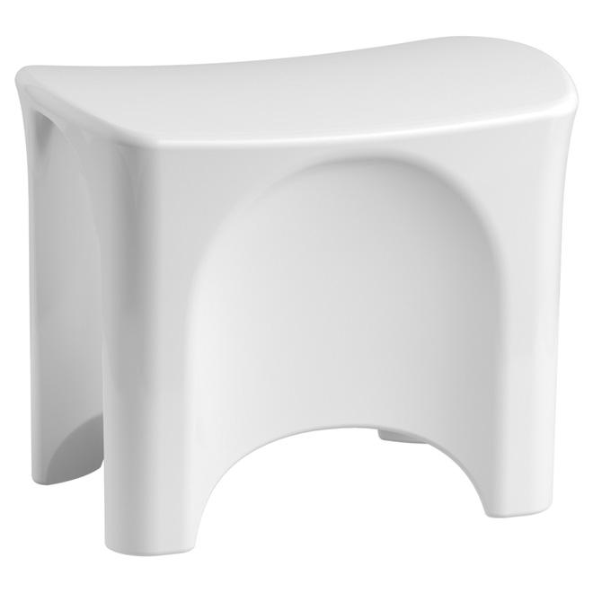 Siège de douche en composite, blanc