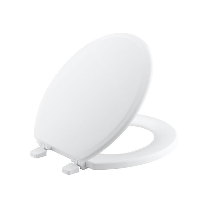 Moulded Wood Toilet Seat Ridgewood Kohler - Round - White