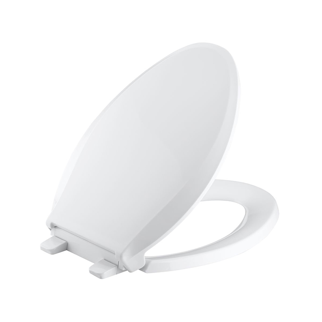 Siège de toilette amovible Kohler, Cachet, allongé, blanc